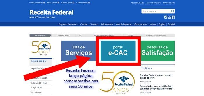 Código de Acesso E-CAC Receita Federal