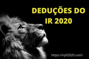 Deduções do IR 2020